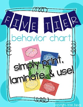 Ready to Learn?? Five Tier Chevron Behavior Chart/Management Tool!
