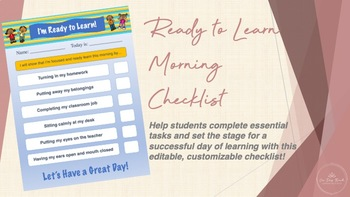 Ready to Learn Morning Checklist