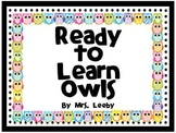 Ready to Learn Owls