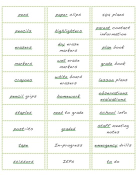 Ready to Print Classroom Labels