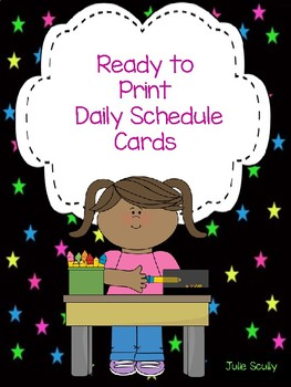 Ready to Print Daily Schedule Cards