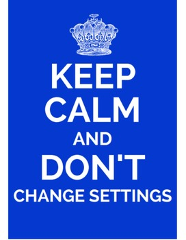 """Printable """"Keep Calm"""" Classroom, Tech, and Inspirational RULES Poster Sets"""