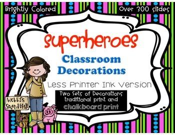 Ready to Print No Prep Superheroes Room Decorations