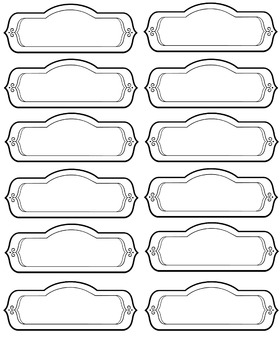 Ready-to-Print Organization Supply Labels