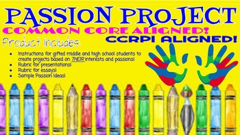 Ready to Print!  Passion Project Bundle! CCGPS Aligned!  C
