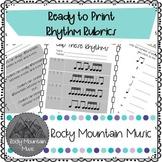 Ready to Print Rhythm Rubrics