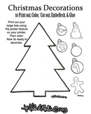 Ready to Print and Color Christmas Decorations