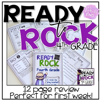 Ready to ROCK Fourth Grade {A multi-use review for BACK-to-School}