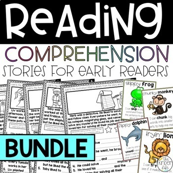 Reading Comprehension Fill-in-the-Blank & Illustration Stories BUNDLE