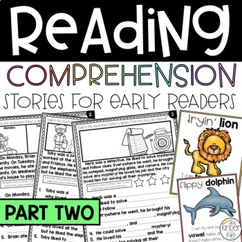 Reading Comprehension Fill-in-the-Blank & Illustration Stories SET 2