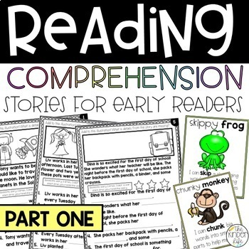 Ready to Read Fill-in-the-Blank & Add Illustration Comprehension Stories SET 1