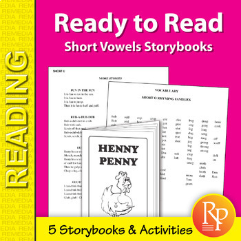 Short Vowels Storybooks for Beginning Readers