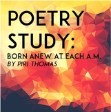 Poetry Study: Born Anew at Each A.M. (Worksheet & Teacher Key)