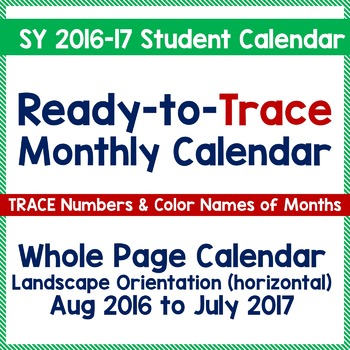 Teach Calendar Skills with Ready-to-Trace Numbers - SY 201