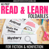 Interactive Reading Comprehension Flip Book Reports for Fiction & Nonfiction