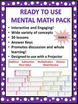 Ready to Use Grade 6 Mental Math