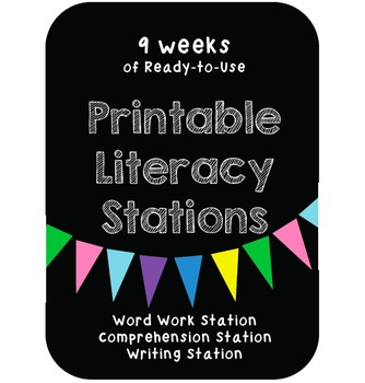 Ready-to-Use Printable Literacy Stations