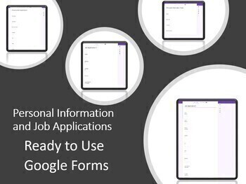 Ready to Use Personal Information/ Employment Application-One Google Form Doc