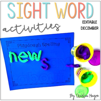 Ready to Work on Words - EDITABLE - December - Word Work 1st Grade