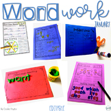 Sight Words Activities for January  Word Work for 1st Grade Editable