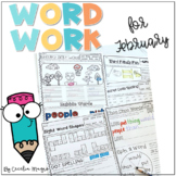 Ready to Work on Words - February Word Work 1st Grade