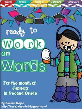 Ready to Work on Words - January - 2nd Grade Word Work