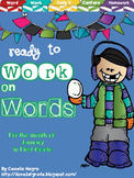 Ready to Work on Words - January Word Work 1st Grade