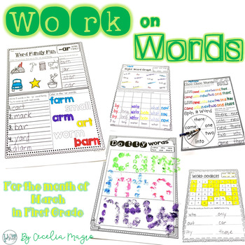 Ready to Work on Words - March Word Work 1st Grade