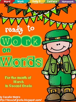 Ready to Work on Words - March Word Work 2nd Grade