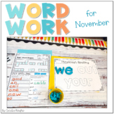 Ready to Work on Words - November Word Work 1st Grade