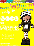 Ready to Work on Words - November Word Work 2nd Grade