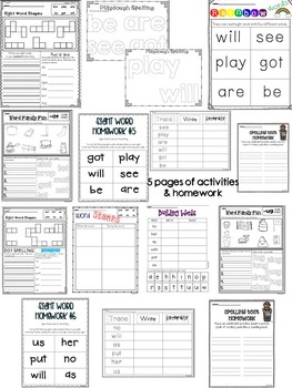 Ready to Work on Words - October Word Work 1st Grade