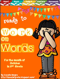 Ready to Work on Words - October Word Work 2nd Grade