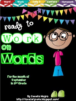 Ready to Work on Words - September Word Work 2nd Grade