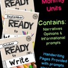 Ready to Write August/September/October {Monthly Writing Pages}