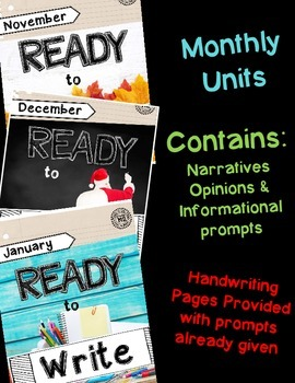 Ready to Write November/December/January {Monthly Writing Pages}