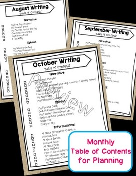 Ready to Write October {Monthly Writing Pages}