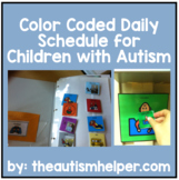 Ready to go Color Coded Daily Picture Schedule - Great for Children with Autism