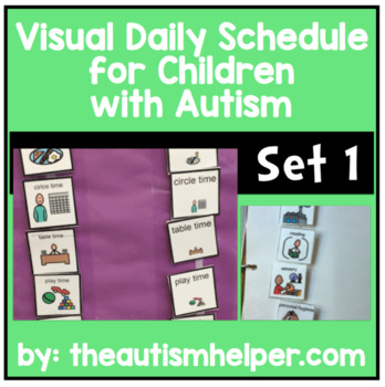 Ready to go Daily Picture Schedule - Great for Children with Autism! SET 1