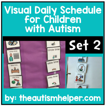 Ready to go Daily Picture Schedule - Great for Children with Autism! SET 2
