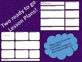 Ready to go Lesson Plan Templates! FREEBIE