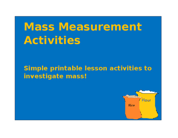 Ready to go Measurement Mass Activities