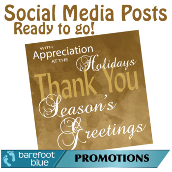 Ready-to-go Social Media Posts, Season's Greetings Set 1, Golden Brown