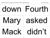 Ready-to-print, typeset card-forms for Mary Mack