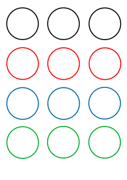 Ready-to-print and cut colour shapes circles for various craft activities