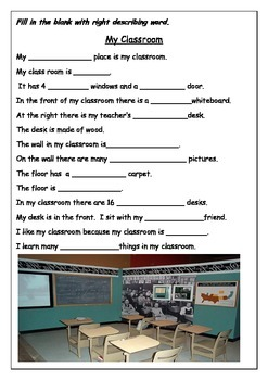 Ready to use ESL Worksheet  - How to write a description of a place