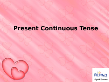 Ready to use presentation on Present Continuous Tense