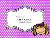 Ready to use task card templates