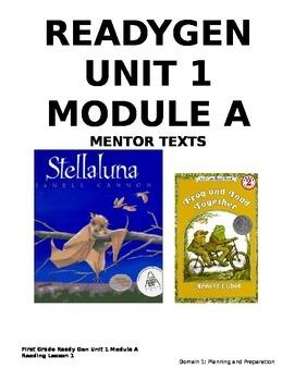 ReadyGEN 1st Grade: Unit 1, Module A, Lesson 1 CCLS/Danielson Aligned - EDITABLE