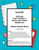 ReadyGEN 1st Grade Unit 2 Module A Performance-based Assessment Sheets
